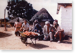 John with friends at Mutemwa